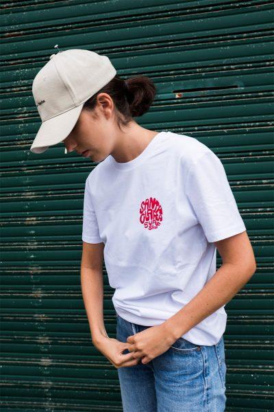 Camiseta mujer Santa Clara W'Round White
