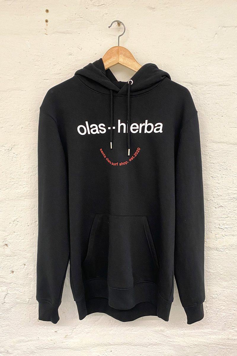 Sudadera Santa Clara Olas+Hierba Black